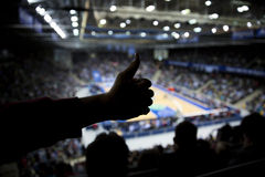 Thumps up during halftime Royalty Free Stock Images