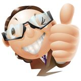 Thums up businessman illustration Stock Images