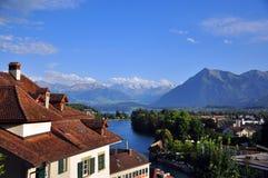 Thun风景在瑞士 免版税库存图片