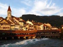 thun Швейцарии города Стоковые Изображения RF