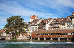 Thun castle Stock Image