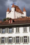 Thun Castle from the City Hall Stock Photo