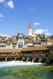 Thun cityscape, Schweiz Royaltyfri Fotografi
