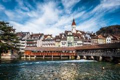 Thun i Schweiz Royaltyfria Foton