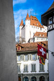 Thun i Schweiz Arkivfoton