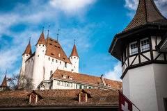 Thun i Schweiz Arkivfoto