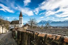 Thun i Schweiz Arkivbild
