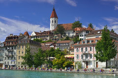 Thun miasto i kasztel, Szwajcaria Obraz Stock