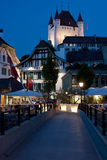 Thun at night Royalty Free Stock Images