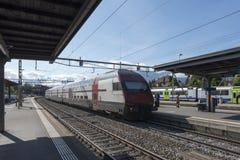 Thun railway station, Switzerland royalty free stock photography