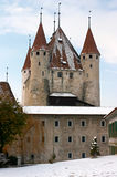 Thun's Castle in winter. (Switzerland Royalty Free Stock Photography