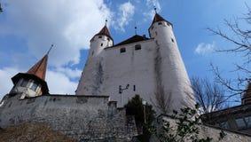 Thun Schloss, die Schweiz stockfotografie