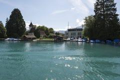 Thun ship canal royalty free stock photos