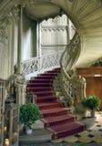 Thun, Suíça - 23 de julho de 2017: A escadaria do castelo de Schadau Imagem de Stock Royalty Free