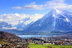 Thun, Switzerland. Swiss alpine landscape by Thun, Switzerland Stock Photography