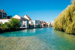 Thun village and Aare river in Switzerland. Thun village and Aare river at Switzerland stock photography