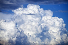 Thunder. Big thunder cloud and blue sky Stock Image