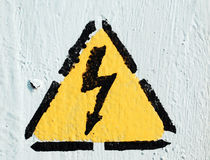 Thunder. Electricity thunder sign means danger Royalty Free Stock Image