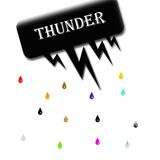 Thunder background design Stock Photos