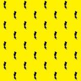 Thunder Background. Seamless Thunder Pattern. Flash Background. Vector Royalty Free Stock Photo