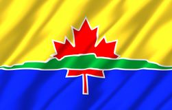 Thunder Bay realistisk flaggaillustration stock illustrationer