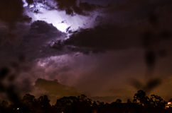 A thunder behind a cloud Royalty Free Stock Photo