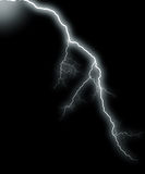 Thunder on black Stock Photography