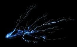 Thunder on black background Royalty Free Stock Photo