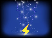 Thunder bolt background. Vector eps10. Royalty Free Stock Photo