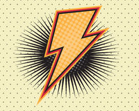 Thunder Bolt Lighting Pop art Royalty Free Stock Photography