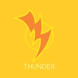 Thunder bolt logo template Royalty Free Stock Images