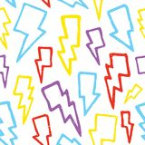 Thunder bolts seamless vector pattern Royalty Free Stock Images