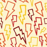 Thunder bolts seamless vector pattern Stock Images