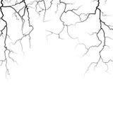 Thunder bolts vector frame in black white Stock Images