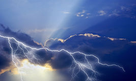 Thunder is celestial. Royalty Free Stock Image