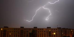 Thunder in city Stock Photos