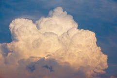 Thunder Cloud. Huge cumulonimbus type thunder cloud forming in the evening sky Royalty Free Stock Photo