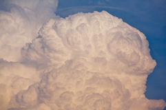 Thunder Cloud. Huge cumulonimbus type thunder cloud forming in the evening sky Royalty Free Stock Photography