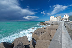 Thunder clouds near Cefalu Sicily Stock Images