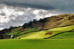 Thunder clouds over Longsleddale Royalty Free Stock Images