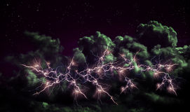 Thunder in clouds Royalty Free Stock Images