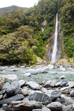 Thunder creek fall New Zealand Royalty Free Stock Photos