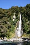 Thunder Creek waterfall. New Zealand royalty free stock photo