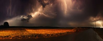 Thunder in a field Stock Image