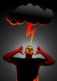 Thunder in head Stock Photography