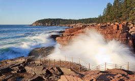 Thunder hole Stock Images