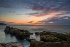Thunder Hole Sunrise in Maine Royalty Free Stock Photos