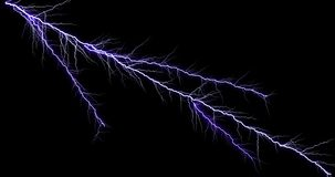 Thunder Light Stock Image On Black Background royalty free stock photos