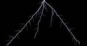 Thunder Light Stock Image On Black Background stock photo