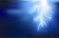 Thunder lighting background Royalty Free Stock Photos